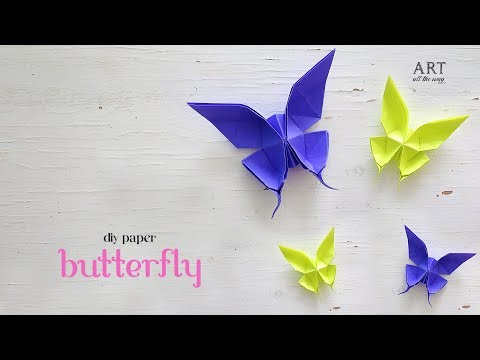 DIY Origami Butterfly | Paper Craft Ideas (Author: Evi Binzinger)