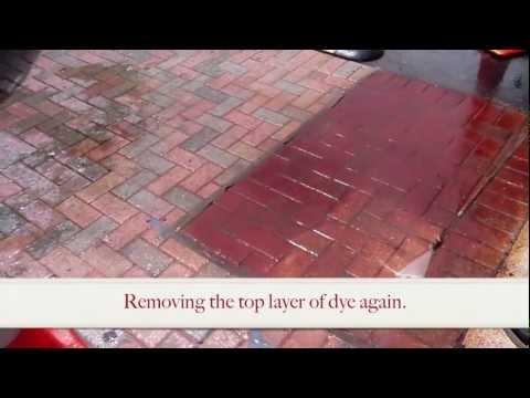 Enhance Brick Pavers w/ a Concrete Grinder & Concrete Dye