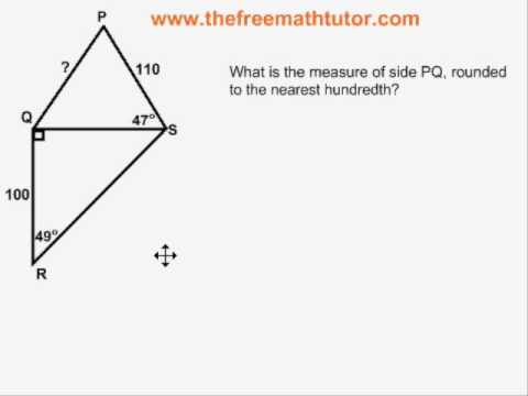 Trig Problems With All 5 Formulas - Example 1