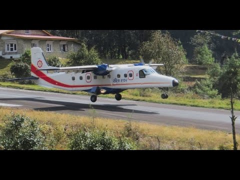 Landings and Takeoffs at Lukla Airport (2800m) - New High definition footage
