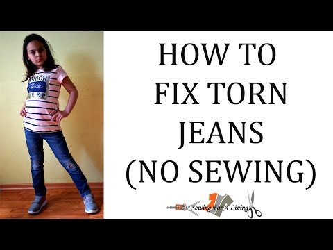 How to fix torn jeans (no sewing)