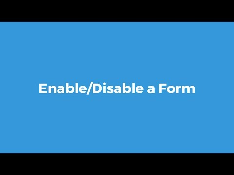 How to Enable/Disable a Form
