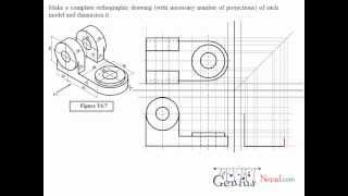 Engineering Drawing Tutorials / Orthographic Drawing with Vertical