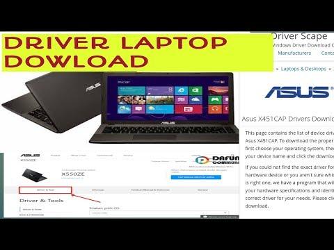 cara download driver laptop asus