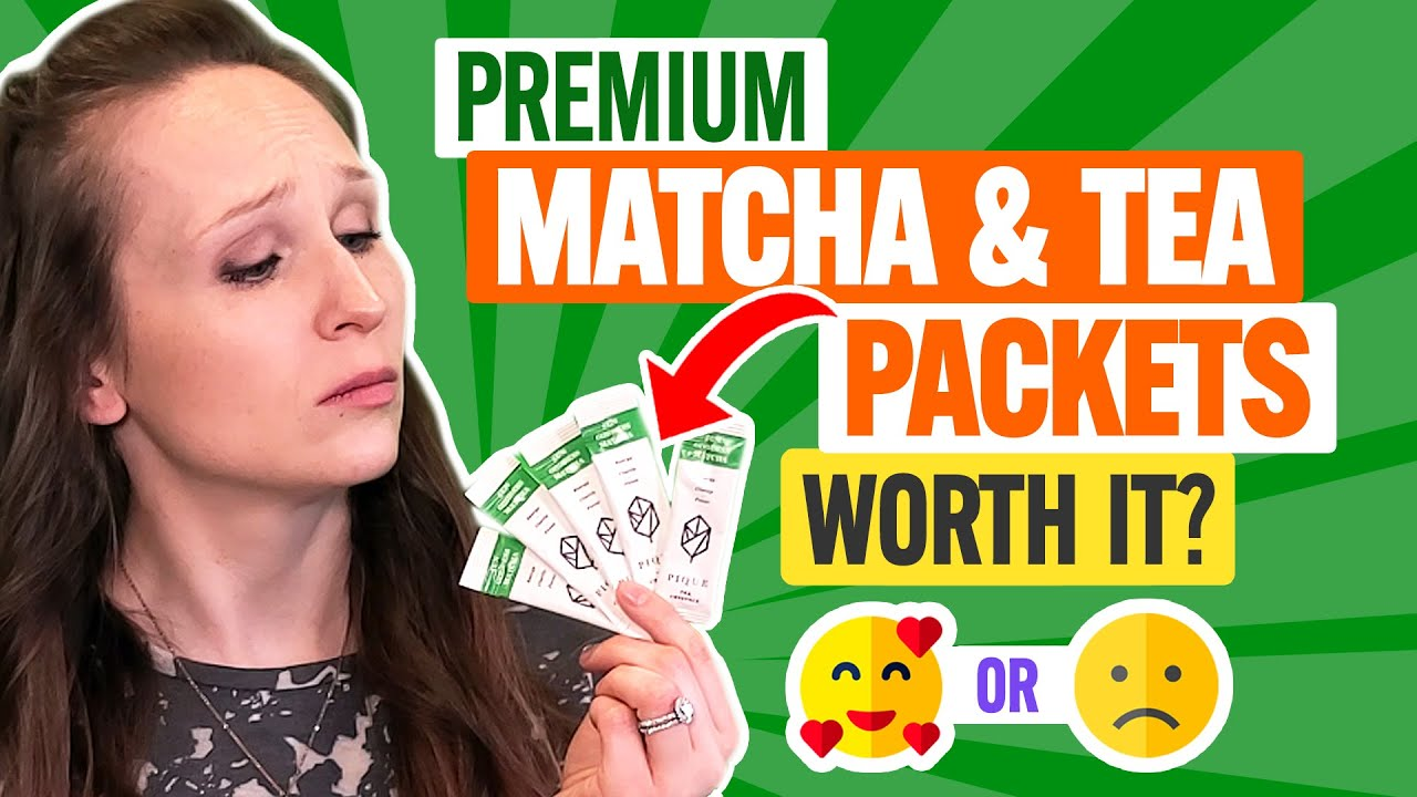 🍵 Pique Tea Review:  How Do These Convenient Matcha & Tea Crystal Packets Stack Up?