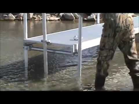 augered dock install