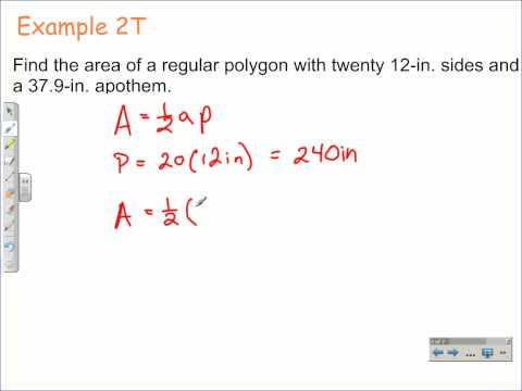 How to Find the Area of Regular Polygons   Geometry Math Video