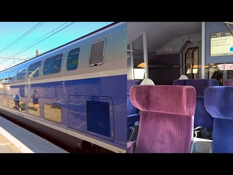 Paris - Barcelona by TGV High Speed Train in First Class (voyager en 1ère classe TGV)