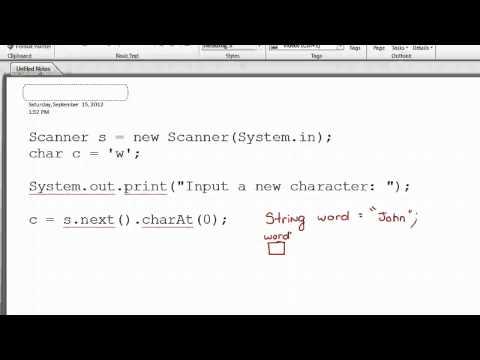 Scanner Class - Character Input