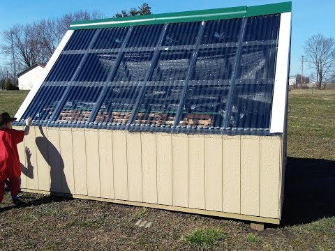 How to build a solar dry kiln Part 4