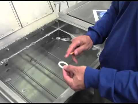 Ultrasonic cleaning demonstration