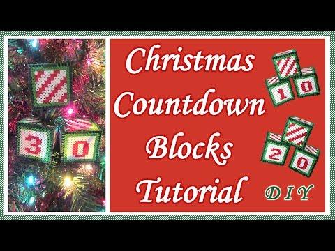 Christmas Countdown Blocks | Perler Bead DIY