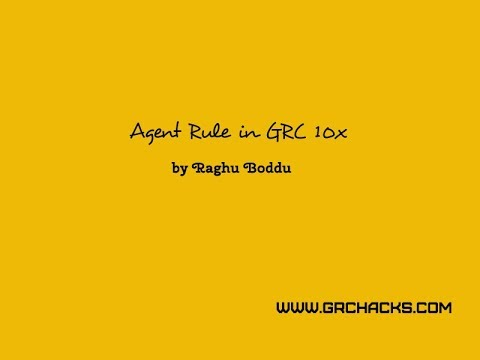 Agent Rule in GRC10