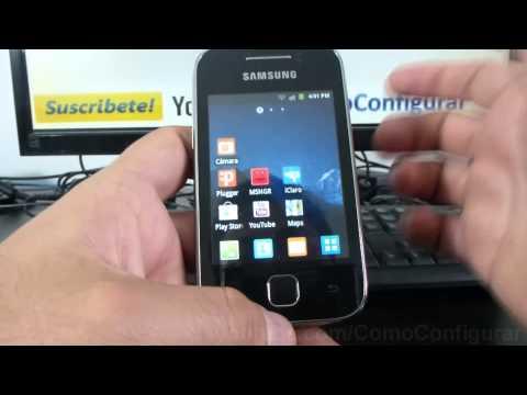 como eliminar widgets de samsung Galaxy Y S5360 español Full HD