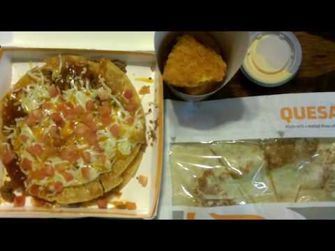 Taco Bell's Crispy Chicken Quesadilla, Mexican Pizza, & Chicken Chips