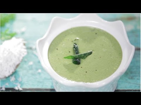 Coconut Green Chutney Recipe in Sindhi - How To Make Nariyal Chutney By Veena - Chutni For Dosa/Idli