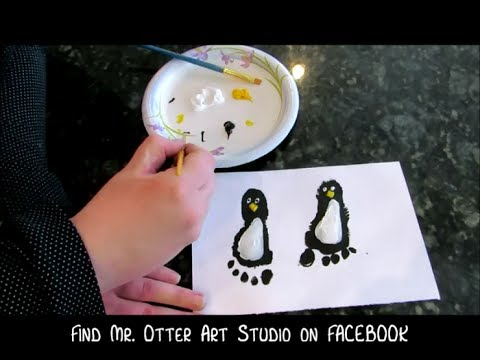 Footprint Penguin - ART for KIDS and BABIES