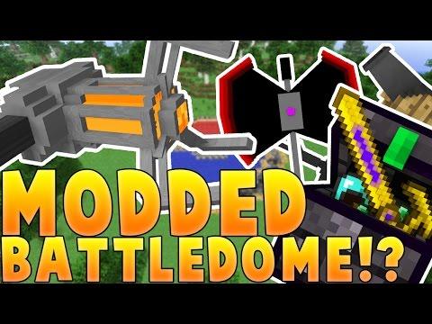 Minecraft MOST OVERPOWERED ARMOR EVER MODDED BATTLEDOME CHALLENGE - Minecraft Mod