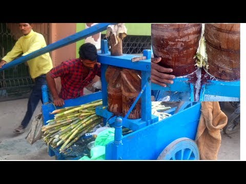 Unique Technology - Traditional N Handmade Sugarcane Juice - The Best Street Food Around The World