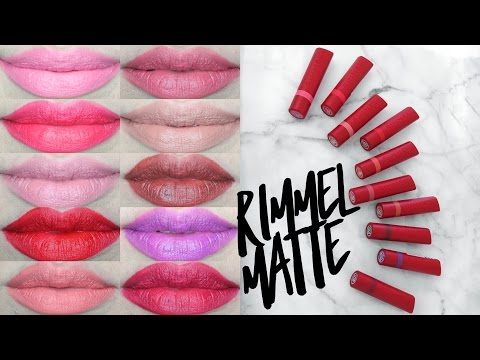 RIMMEL THE ONLY ONE MATTE LIPSTICK SWATCHES