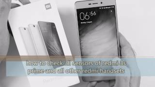 Check all sensors of redmi 3s prime and all redmi handsets