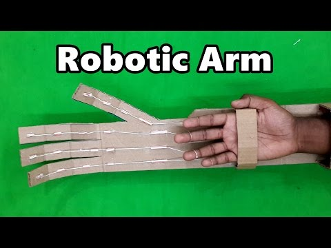 How to Make a Robotic Arm using Cardboard - Very Easy