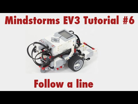 Mindstorms EV3 Tutorial #6: Use the color sensor to follow a line
