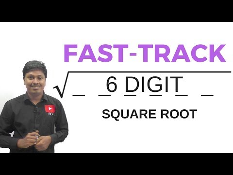 6 DIGIT SQUARE ROOT TRICK # for all Competitive Exams