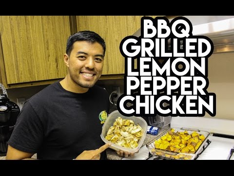 MEAL PREP: BBQ Grilled Lemon Pepper Chicken Breast | @DTATHLETE