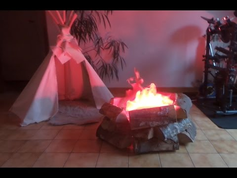 Homemade fake camp fire stage prop - Nicky kaboom