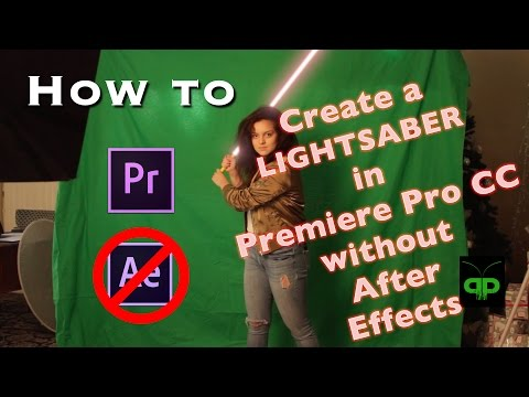 Create a LIGHTSABER in Premiere Pro TUTORIAL (w/o After Effects)