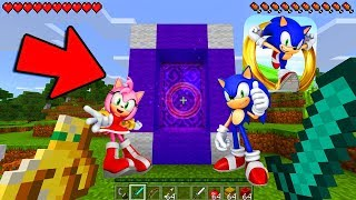 HOW TO MAKE A PORTAL TO THE SONIC DIMENSION - MINECRAFT SONIC