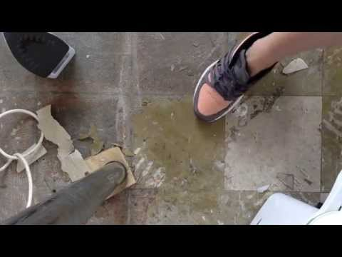 How to remove sticky back vinyl floor tiles easy