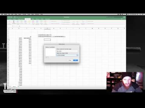 Creating Dynamic Charts in Excel for Nutrition and Other Data