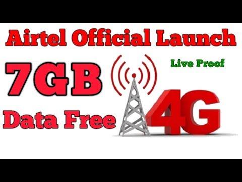 (Free)Airtel officially launch 7 GB 4G data free    airtel free internet data trick 2018