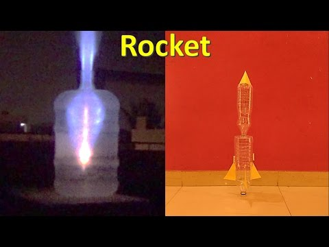 how to make rocket fire and small rocket at home