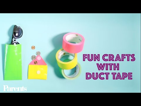 How to Make a Duct Tape Glasses Case & Coin Purse | Parents
