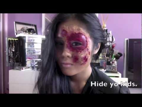 Zombie Makeup Tutorial Using Tissue Paper