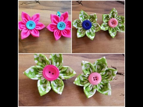 Fabric Button Flower Tutorial  ~so CUTE and EASY!!~