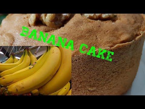 BAKING EGGLESS BANANA CAKE WITHOUT OVEN