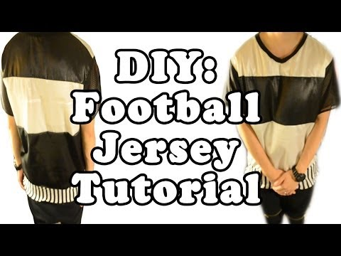 DIY: Black and White Football Jersey Tutorial | From Scratch #15