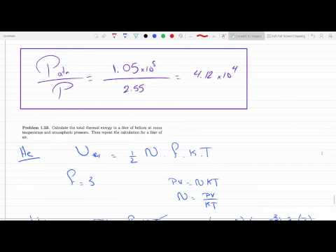 Calculate total thermal energy in 1 L of helium and air at room temperature 1 atm Problem 1-211-23