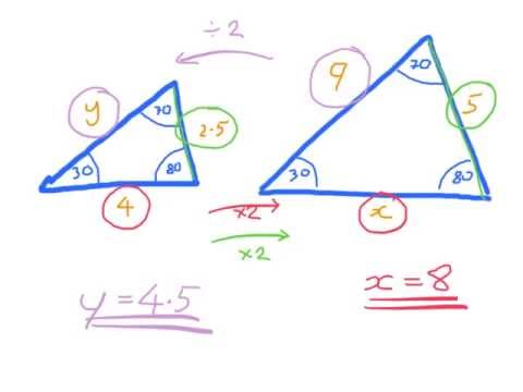 SIMILARITY: How to find lengths from similar triangles
