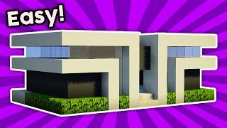 Minecraft How To Build A Easy Small Modern House Tutorial 4 Pc Xboxone Ps4 Pe Xbox360 Ps3