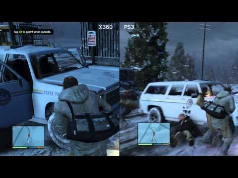(18) GTA 5 [Pt.1] - XBox 360 v PlayStation 3 (PS3) Grand Theft Auto V Gameplay Test