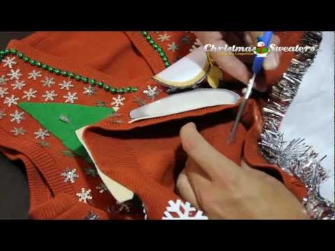 How to Add Lights to A Christmas Sweater (Example 1)