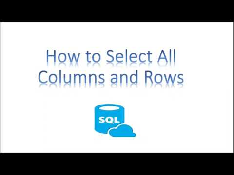 Learn SQL in 3 Minutes--How to Select All Columns and All Rows