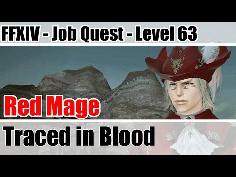 FFXIV Red Mage Level 63 Job Quest - Traced in Blood - Stormblood