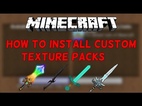 How To Install Minecraft Texture Packs For ANY Version!