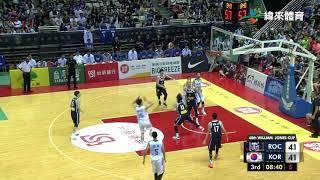 20180722 瓊斯盃男子組 韓國vs中華藍 比賽精華
